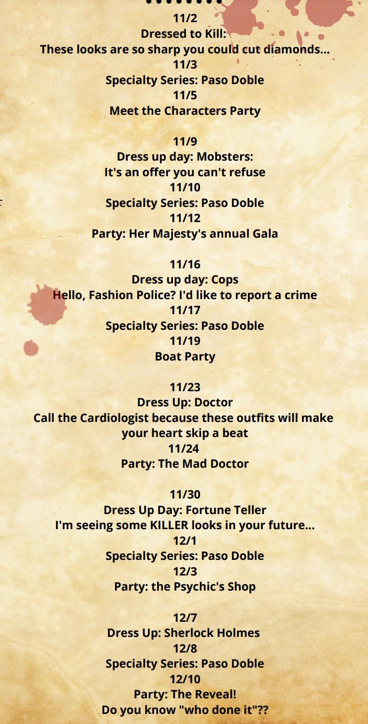 TOC event dates